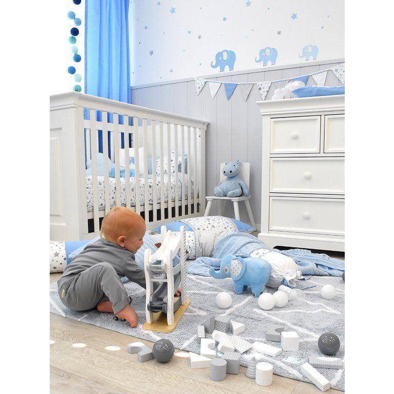 Kinderzimmer Wandsticker Elefanten Blau/grau 48-teilig