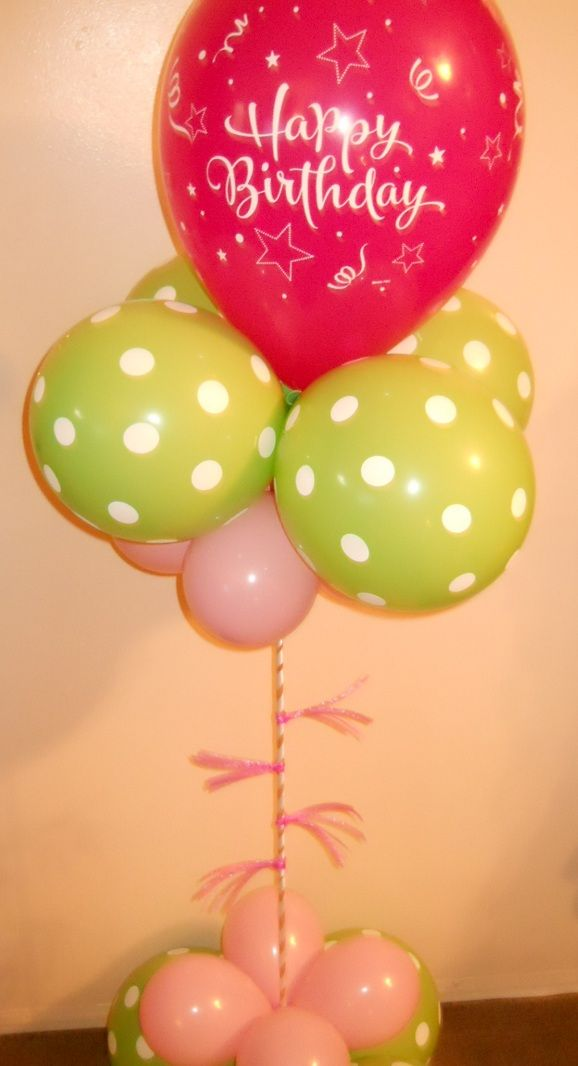 Happy Birthday Pink Balloon Delivery Doesnt Use Helium Party