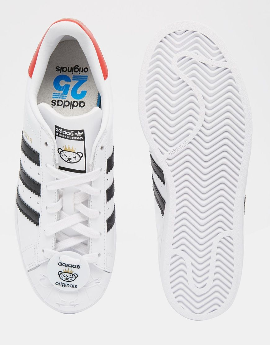 Image 3 of adidas Originals Superstar With Nigo Bear Tag Trainers