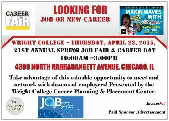 ***EMPLOYMENT OPPORTUNITIES***  *BROADCASTING LIVE Wilbur Wright College......*  *^Another Great Radio Show, #TALK-TIME-THURSDAY, 04/23/15!