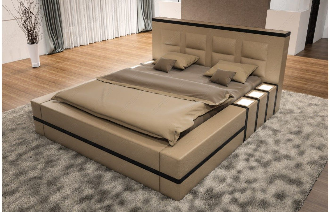 Polsterbett Asti Mit Beleuchtung Bed Furniture Design Bed Back Design Bed Design Modern