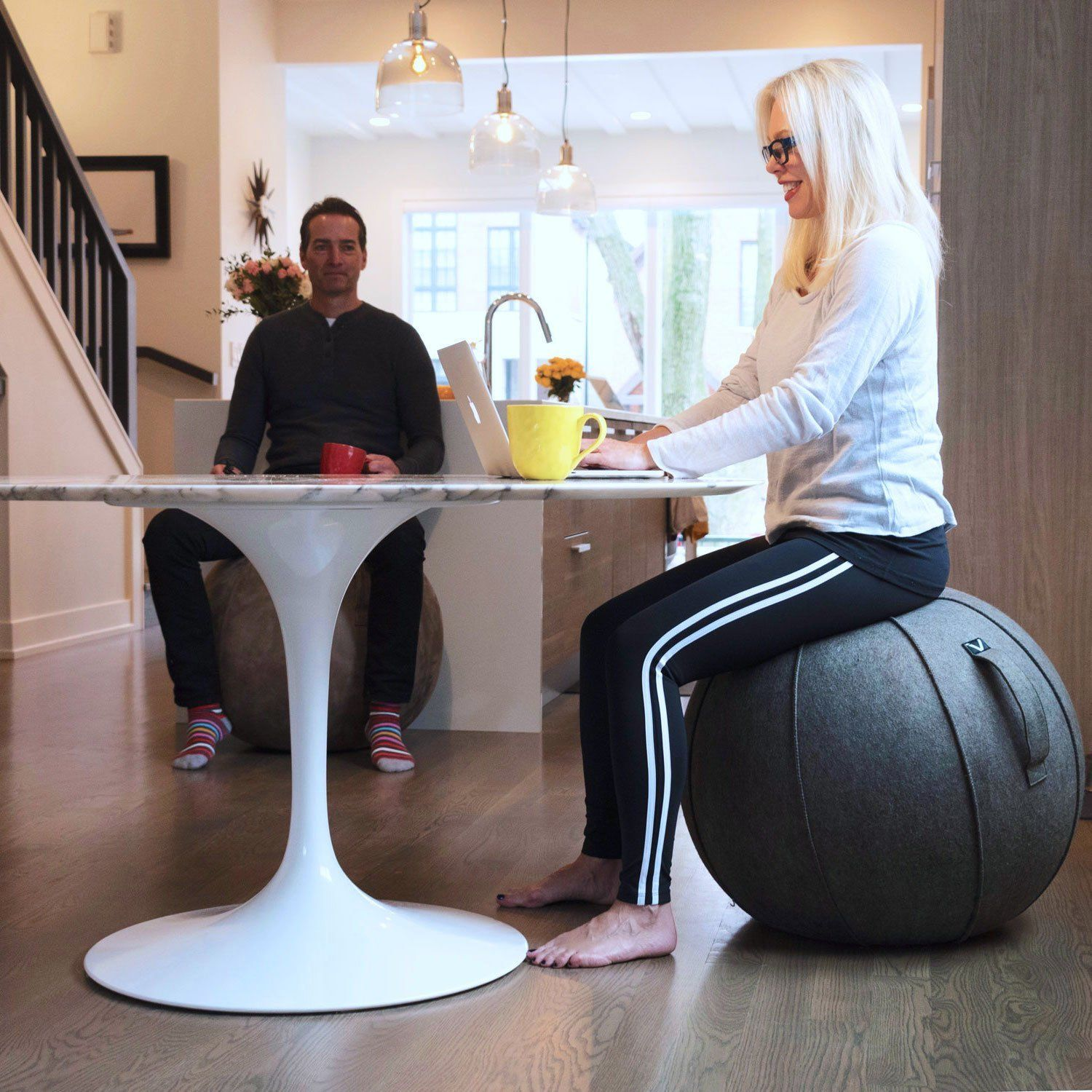Vivora Luno Exercise Ball for Home, Office, Yoga