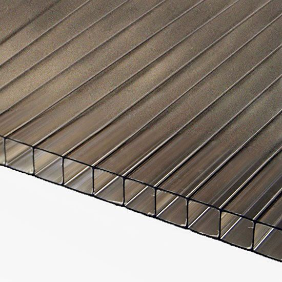 8mm Bronze Twinwall Polycarbonate Sheet Polycarbonate Panels Polycarbonate Roof Panels Skylight Installation