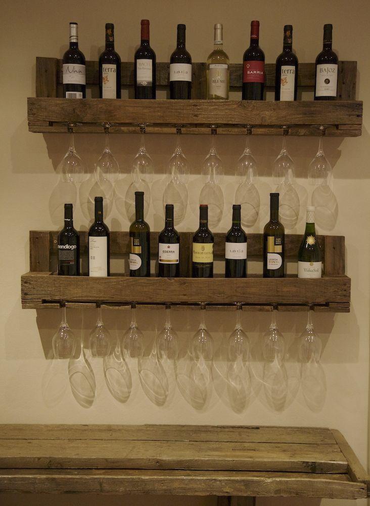 Original botellero hecho con palets reciclados cosas - Palets muebles reciclados ...