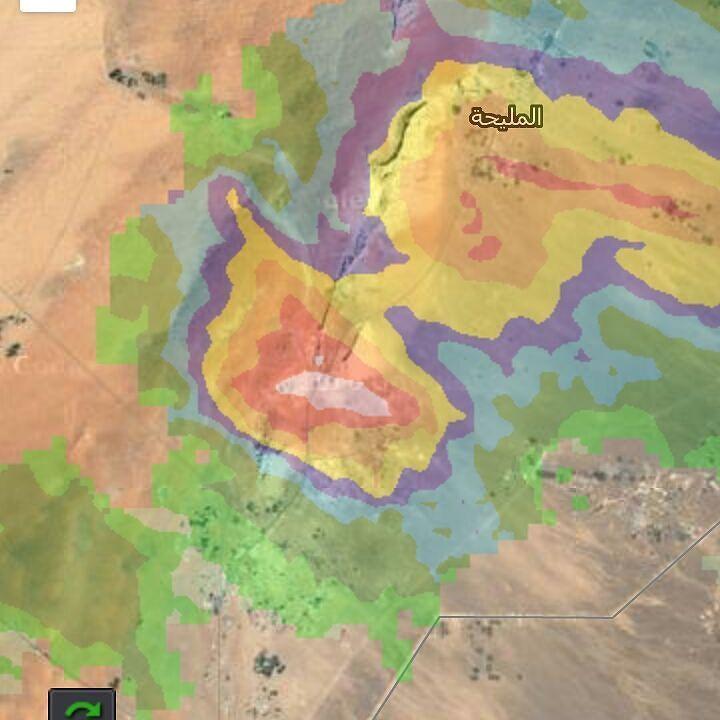 شبكة أجواء الامارات رادار غيث يرصد خلية بردية على الفاية Instagram Posts Instagram Map