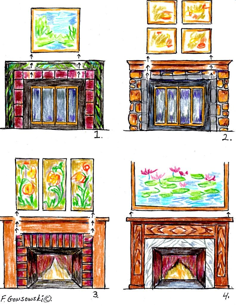 Hanging The Right Size Picture Or Mirror Over Your Fireplace Fireplace Art Mirror Over Fireplace Mirror Above Fireplace