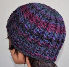 48d00228c81 FREE PATTERN! Chunky Mochi Roll Brim Hat (shown in Chunky Mochi 845 Drama  by Crystal Palace Yarns)