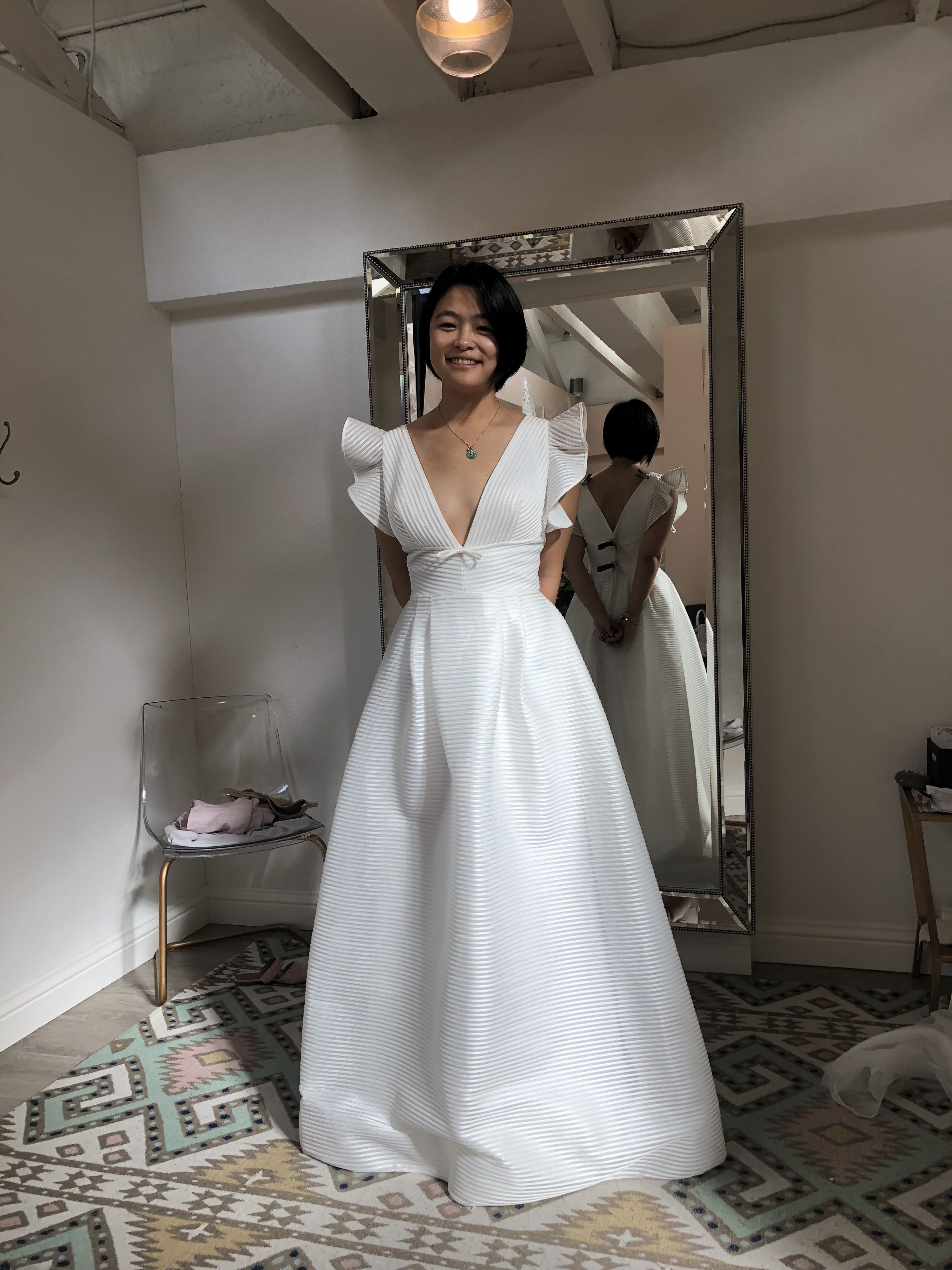 00ce83a98a97d Like the texture and avant garde cut of this dress (Marchesa Notte -  Savannah)