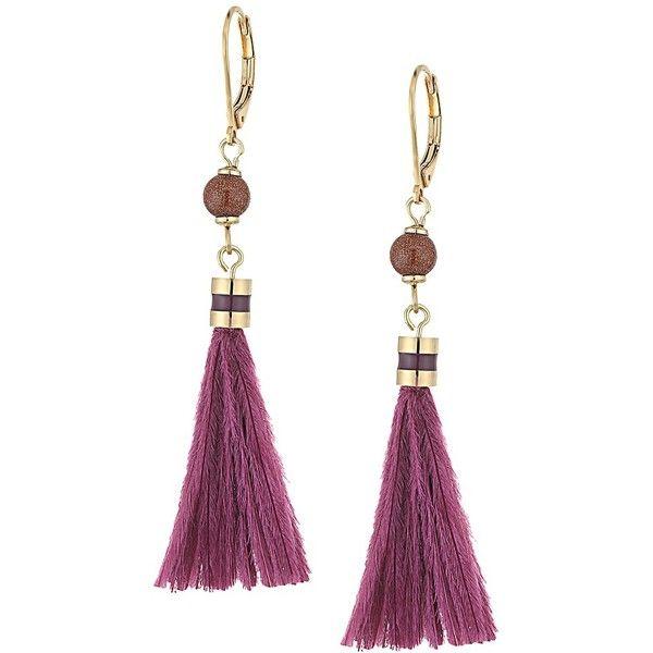 1a406b22257bf Kate Spade New York Swing Time Small Tassel Earrings (Purple Multi ...