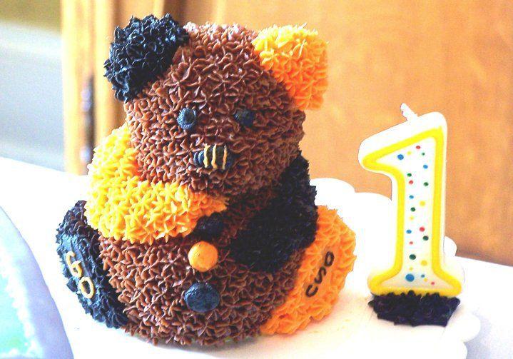 Birthday OSU Mini Teddy Bear Cake Kimberlys Custom Cakes
