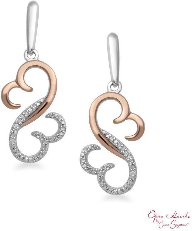 Zales 1/20 CT. T.w. Diamond Link Stud Earrings in 10K White Gold 2YX9b