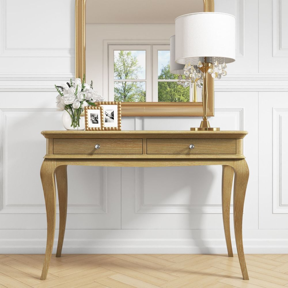 details about solid oak console table crystal effect handles hallway