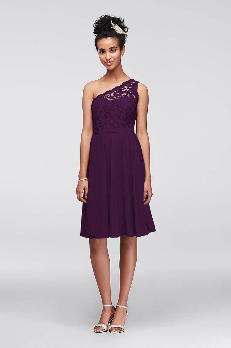 Plum bridesmaid dressdavids bridal county wedding pinterest