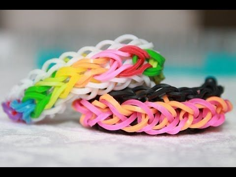 Rainbow loom Nederlands Raindrop Armband Bracelet - YouTube
