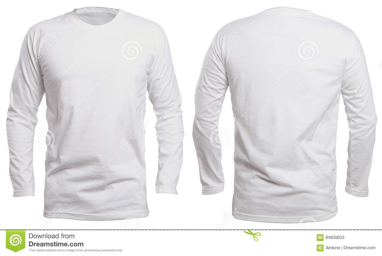 White Long Sleeve Shirt Mock Up T Shirt Design Template Plain Black T Shirt Long Sleeve Tshirt Men