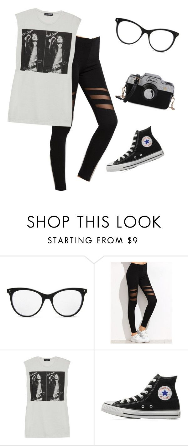 """Untitled #2395"" by samanthay7 ❤ liked on Polyvore featuring STELLA McCARTNEY, Dolce&Gabbana and Converse"