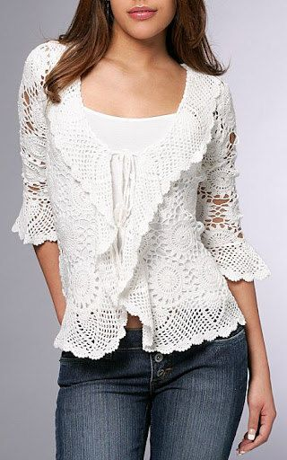 Pdf Pattern Only A Crochet Springsummer Cardigan Projets