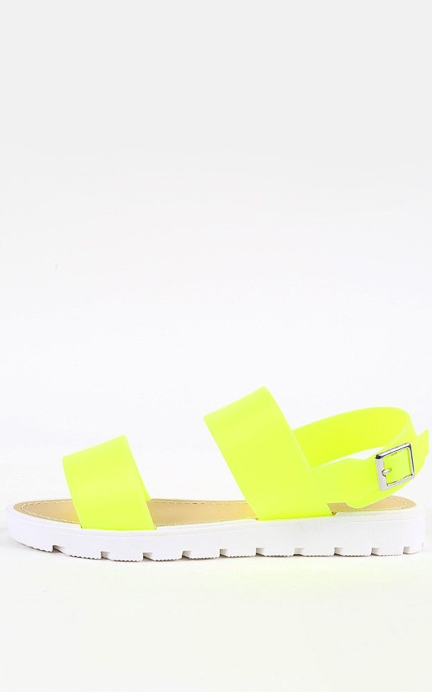 f2b98cdfbcef Loving this neon jelly sandals