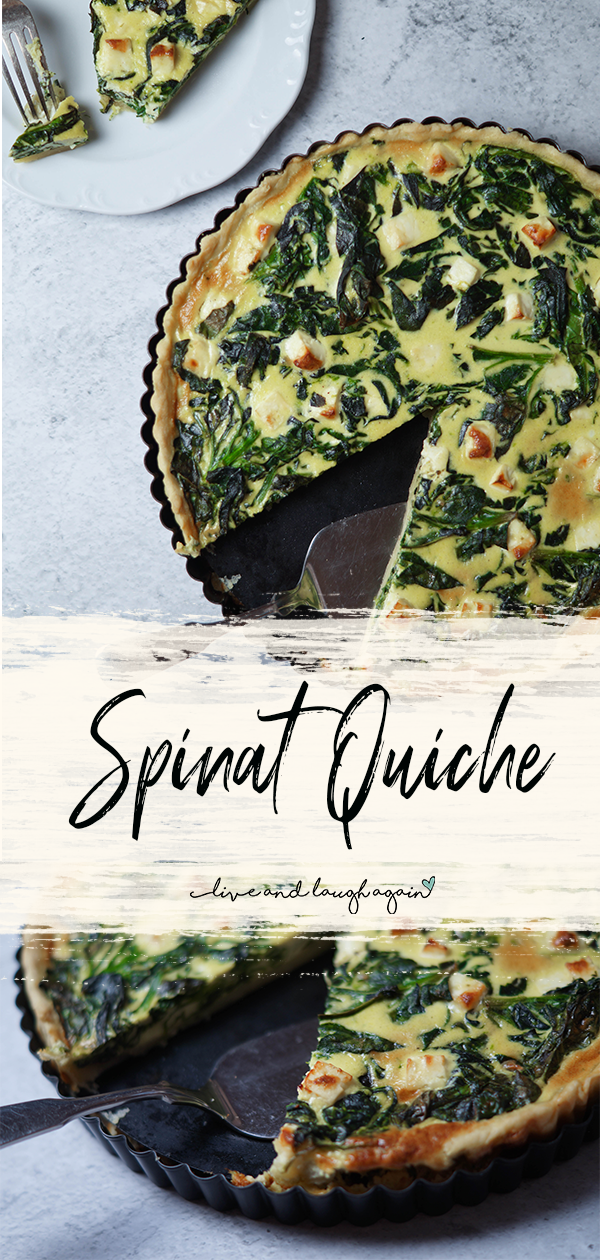Spinat Quiche Mit Feta Eliz Huhnchenrezepte2020 In 2020 Healthy Vegetable Snacks Delicious Quiche Healthy Snacks Recipes