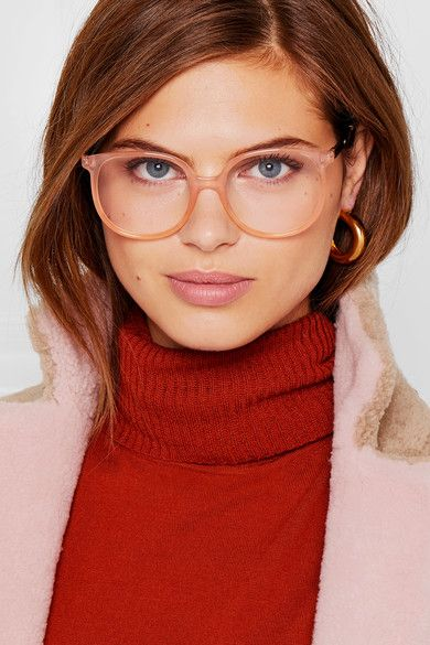 a67db1cf7bf7 CHLOÉ Myrte chic square-frame acetate and gold-tone optical glasses ...