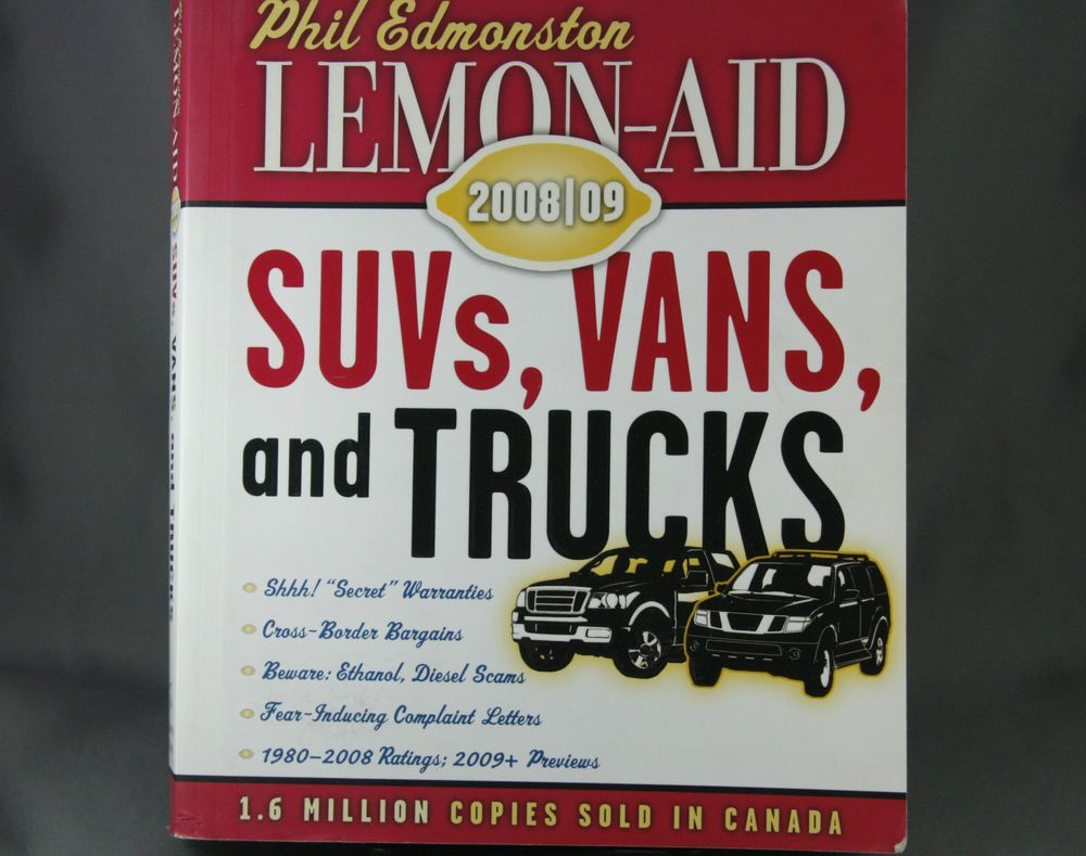 Edmonston Lemon-Aid Guide SUVs Vans and Trucks 2008 2009