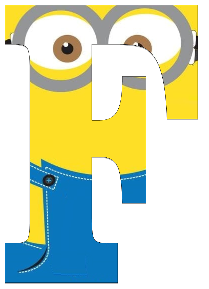 Typography - Minion Alphabet - Letter F | Birthday ...