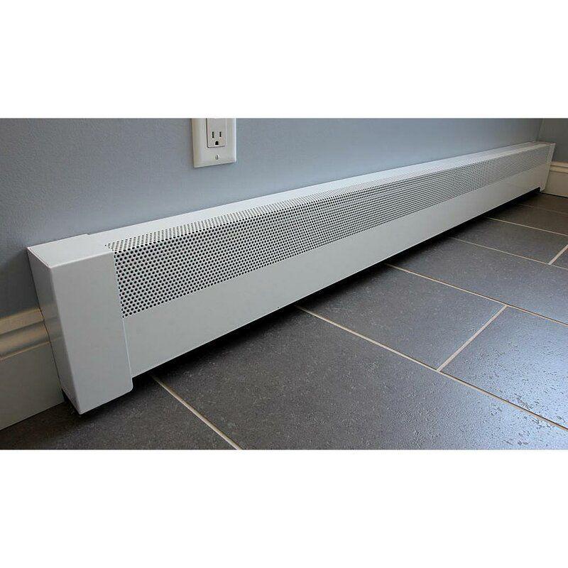 Basic Series Galvanized Steel Easy Slip On Baseboard Heater Cover In 2021 Baseboard Heater Covers Baseboard Heater Heater Cover