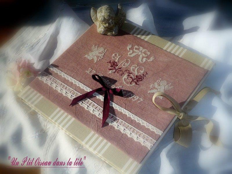 album de notre mariage cartonnage brod pinterest album cartonnage et mariages. Black Bedroom Furniture Sets. Home Design Ideas