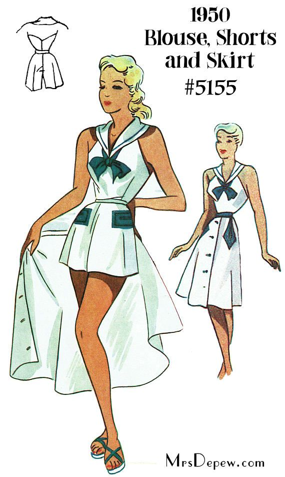 1950s Sewing Patterns | Playsuits, Sewing patterns and 1950s