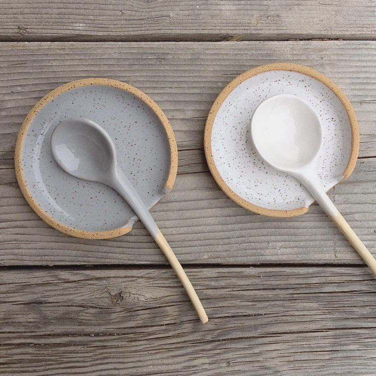Ceramic Spoon Rest Home Decor Handmade Spoon Holder In 2020 Ceramic Spoon Rest Ceramic Spoons Pottery Spoon Rest