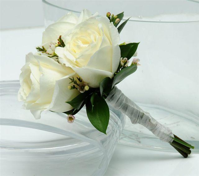3 White Rose Bouquet White Flower Bouquet Flower Bouquet Wedding White Rose Bouquet