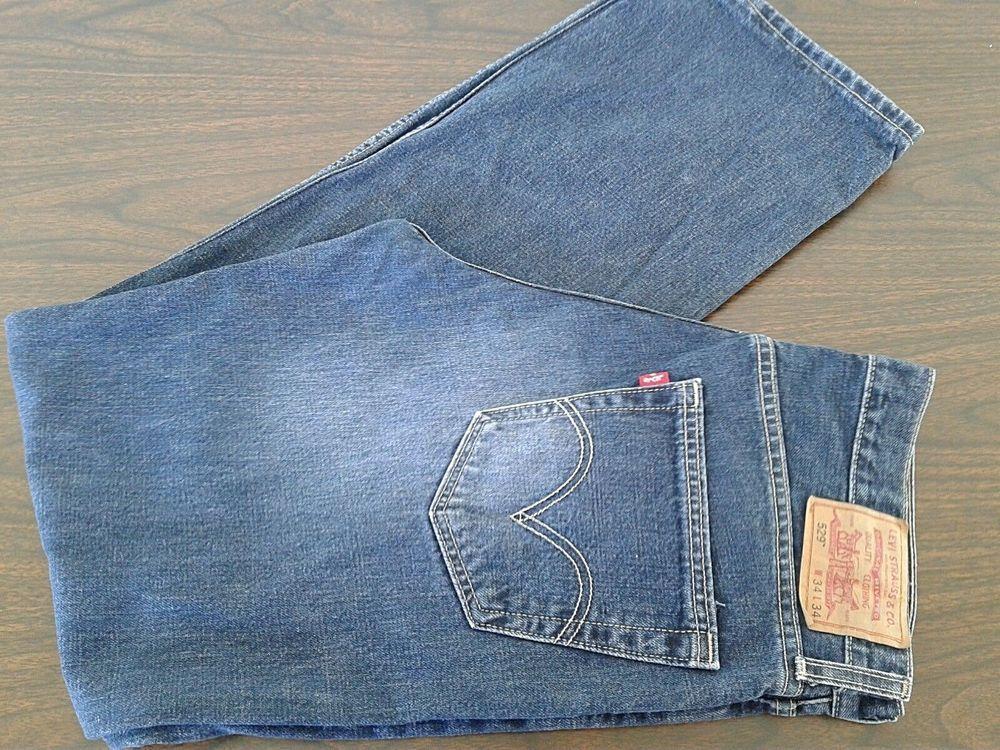Levis 529 Low Rise Straight Dark Wash Jeans 34x34 True