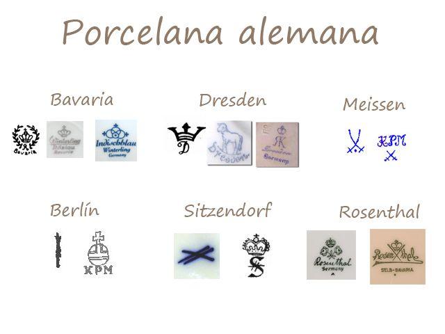 Ferraz49 muebles en dep sito identificar los sellos en for Marcas de vajillas