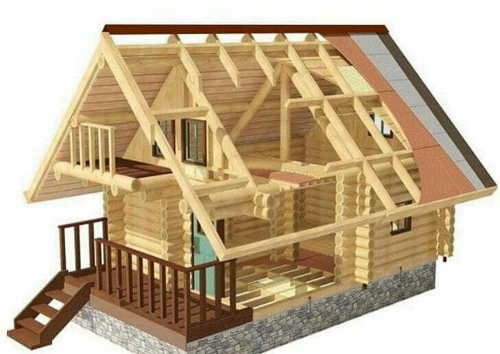 Seccion Estructura En Madera Maciza Casas Prefabricadas De Diseño Planos De Casas Prefabricadas Casas Pequeñas Prefabricadas
