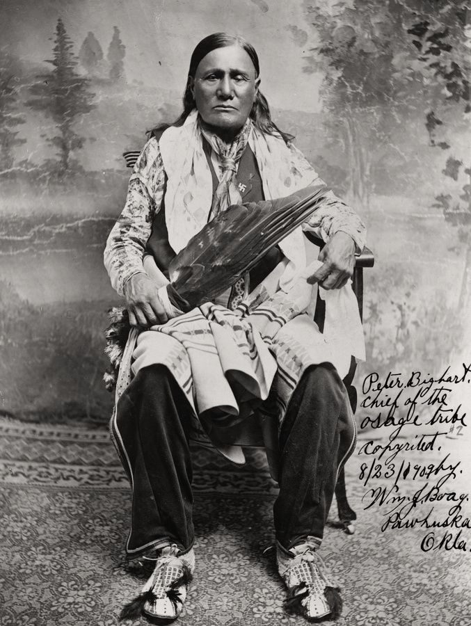 """Peter Big Heart, chief of the Osage tribe"", 1909"