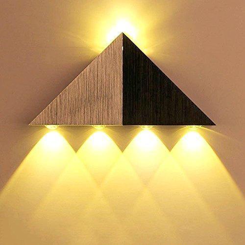 Photo of Lemonbest Modern Triangle 5W LED Wall Sconce Light Fixture Indoor Hallway Up Down Wall Lamp Spot Light Aluminum Decorative Lighting for Theater Studio Restaurant Hotel – Yellow