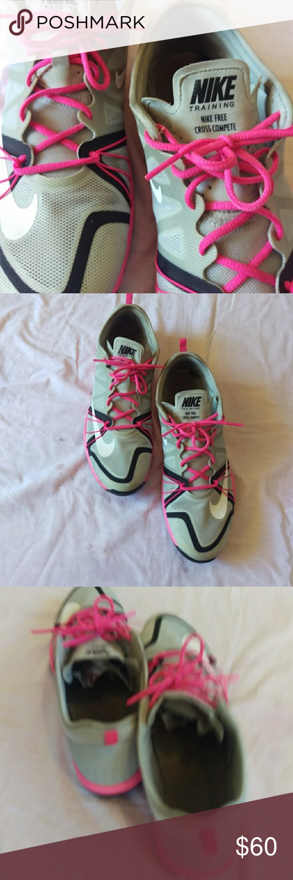 Nike free cross complete gry,wht,pnk black sneaker Nike free cross complete gray, white,pink black sneakers great condition size 10 Nike Shoes #nikefreeoutfit