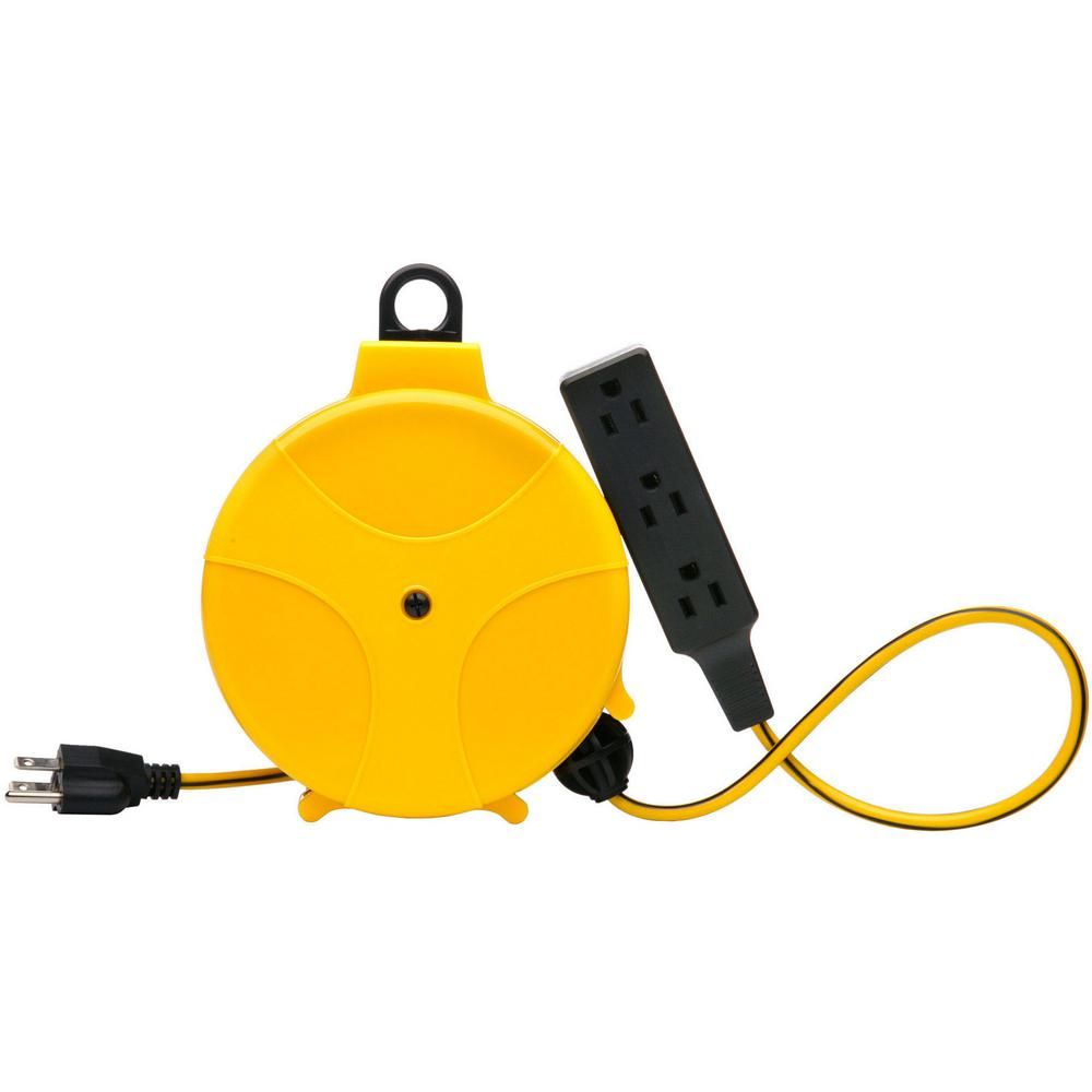 Southwire 20 Ft Retractable Cord Reel Extension Cord Home