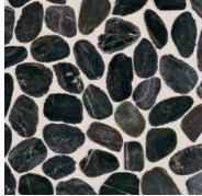 Dal Tile Black River Da05 Pebble Mosaic Shower Floor Daltile River Pebbles Stone Mosaic