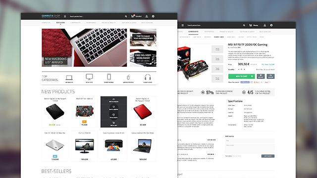 10 awesome free ecommerce website templates psd graphic design inspiration