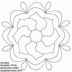 Zendala template #6 (Amaryllis Creations) Tags: mandala template penink zentangle zendala