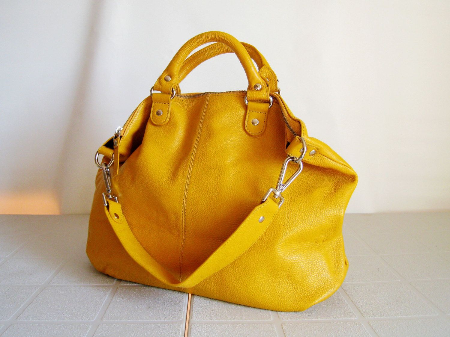 d0ee6f03ae handmade leather tote by Laura Qi