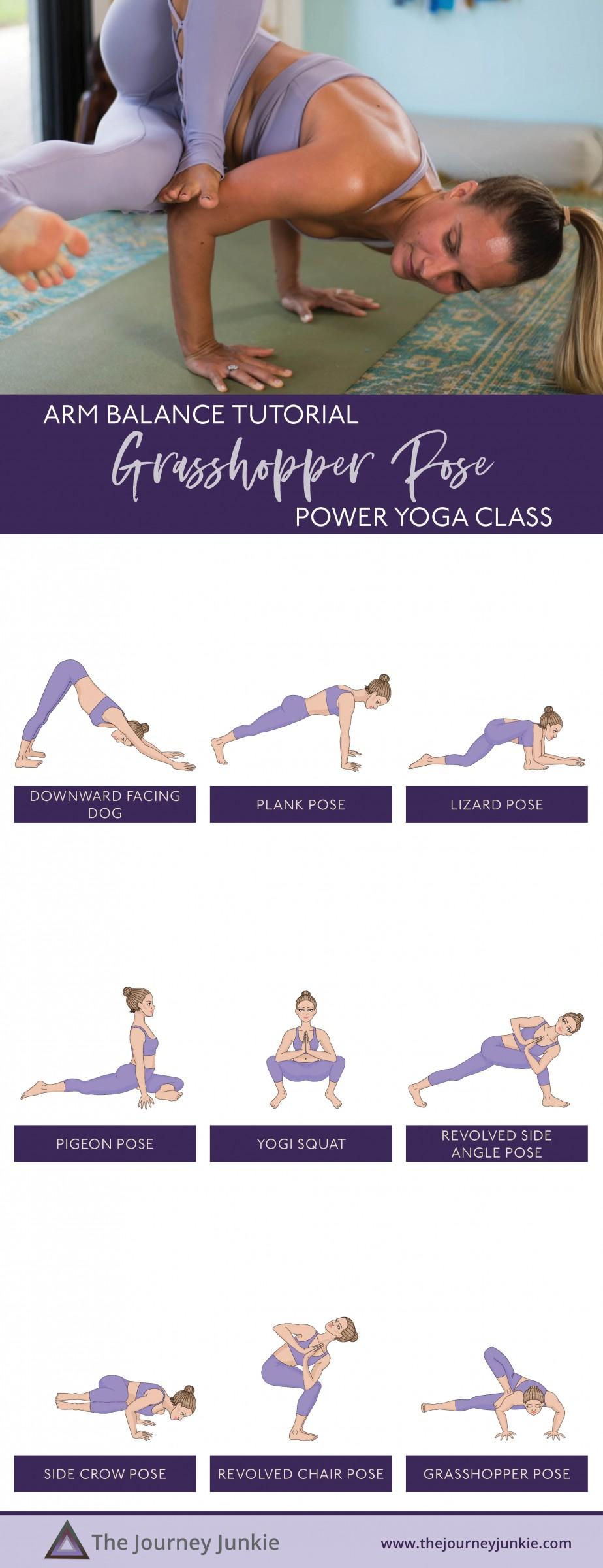 Grasshopper Yoga Pose Video: Twist + Hip Opener Flow | Arm ...
