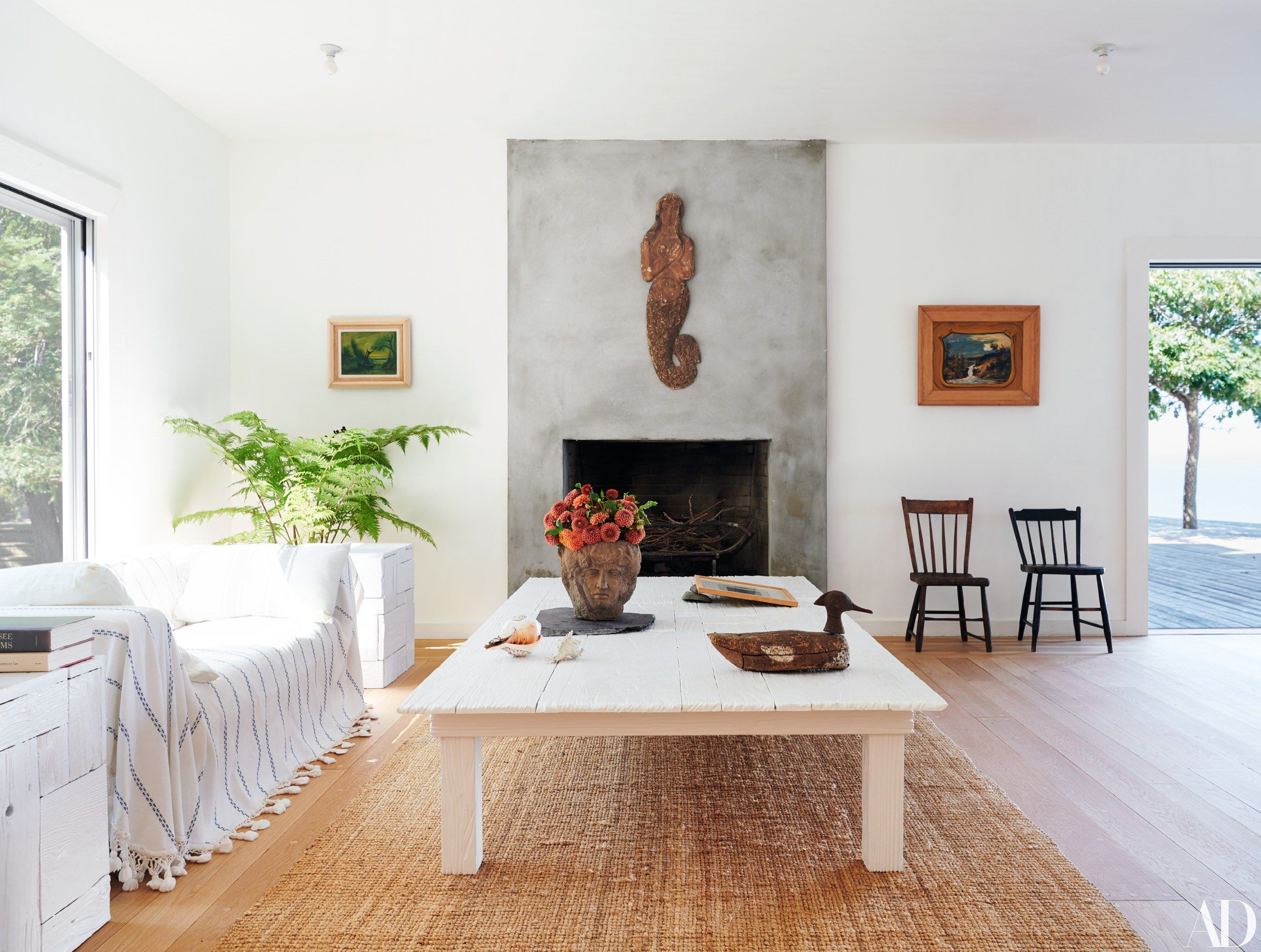 Inside Ugo Rondinone And John Giorno S Peaceful Escape On Long Island Photos Architectural Digest