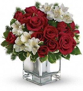 Telefloras christmas blush bouquet in denham springs la pretty n telefloras christmas blush bouquet in denham springs la pretty n pink florist mightylinksfo