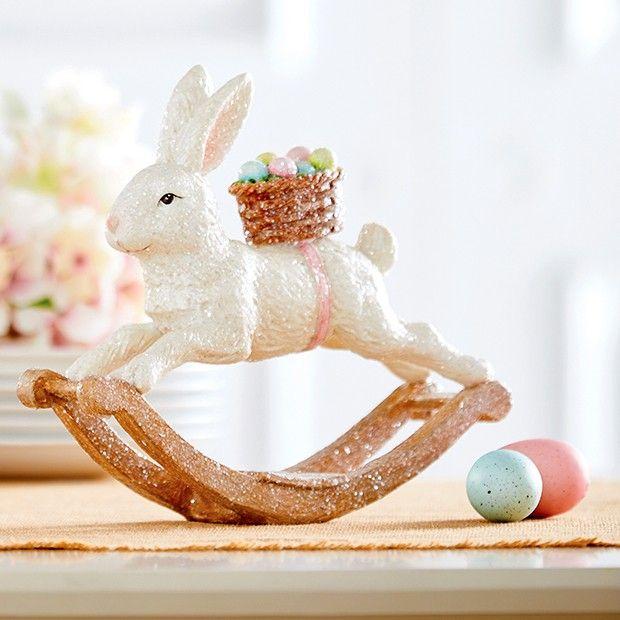 Rabbit Rocking Horse Tabletop Decor