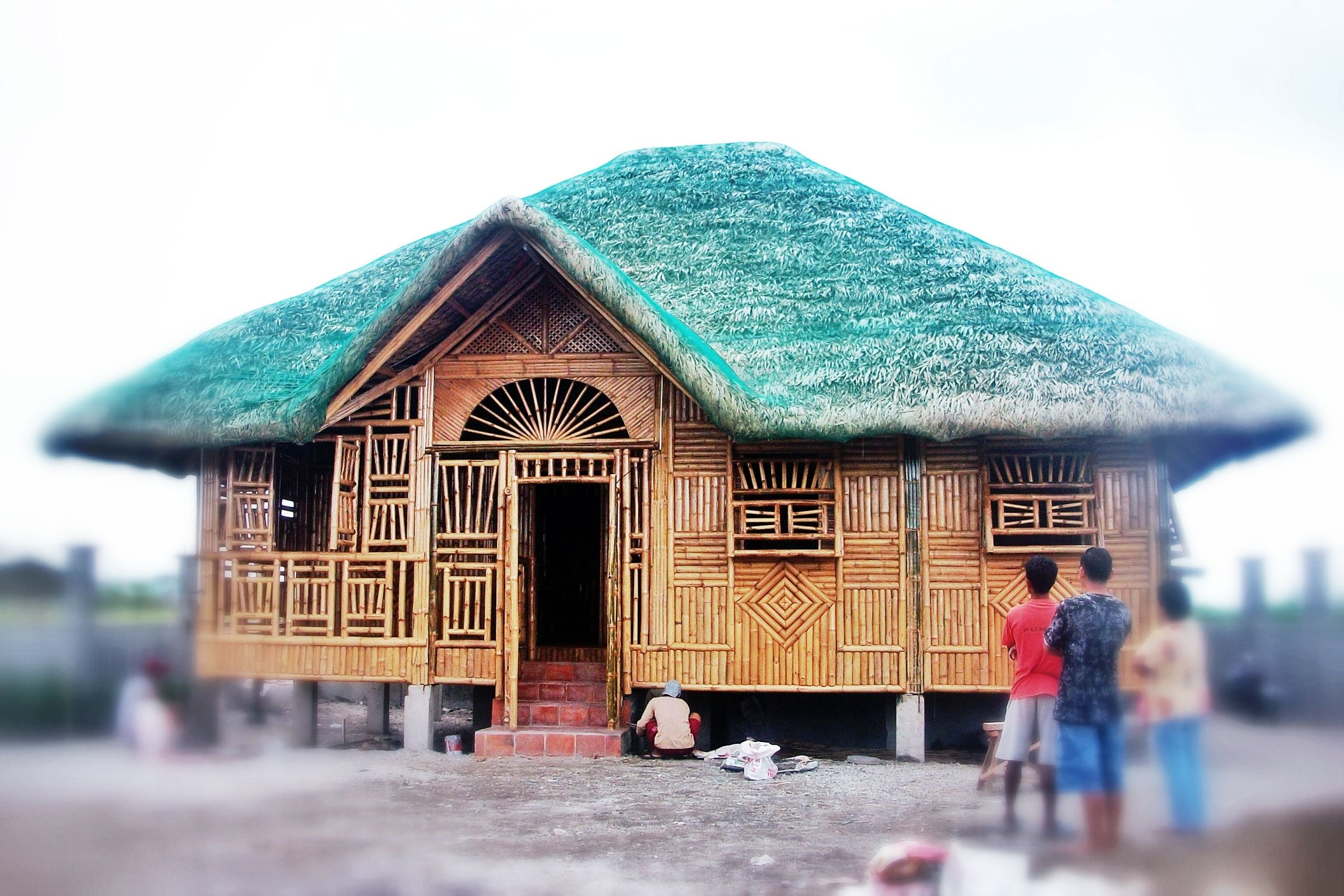 8x10meters Concrete Nipahut | Nipa Hut Style - Philippines | Pinterest