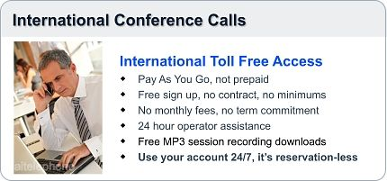 Toll Free International Conference Call Access Numbers