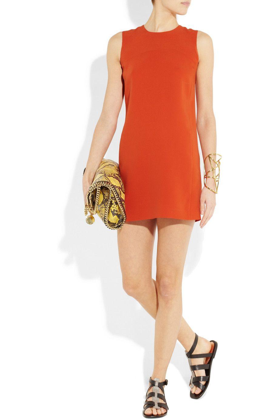 perfect day dress  VINCE silk-georgette shift dress