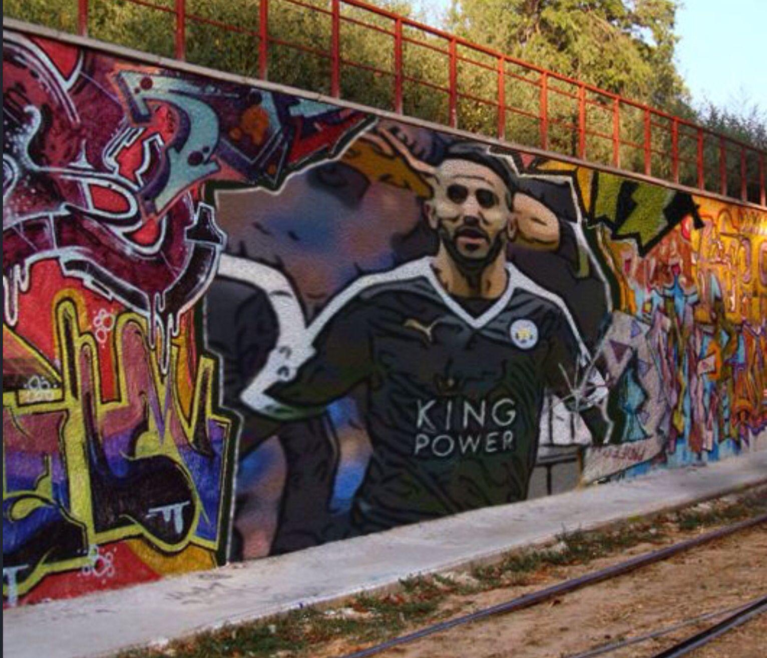 Mahrez street art